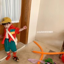 suit Other / other 80cm,90cm,100cm,110cm,120cm neutral summer Korean version Short sleeve + pants Thin money There are models in the real shooting Socket nothing Solid color cotton Expression of love 18 months, 2 years old, 3 years old, 4 years old, 5 years old, 6 years old, 7 years old, 8 years old