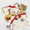 T-shirt Bear Lapel T-shirt Other / other 90cm,100cm,110cm,120cm,130cm,140cm neutral summer Short sleeve Crew neck leisure time No model nothing cotton Cartoon animation Sweat absorption 12 months, 18 months, 2 years old, 3 years old, 4 years old, 5 years old, 6 years old