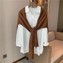 Scarf / silk scarf / Shawl Wool spring and autumn female Shawl multi-function Korean version other student Solid color Splicing More than 96% Snow deer