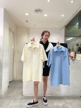 Dress Summer 2021 Black, blue, yellow all Mid length dress singleton  Short sleeve commute Polo collar Solid color zipper other routine Others Korean version 31% (inclusive) - 50% (inclusive) other other
