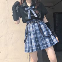 Square dance suit Other / other S,M,L,XL,2XL Short skirt (with belt), short sleeve shirt + short skirt + bow tie, short sleeve shirt, short skirt bow tie belt, short sleeve shirt (with tie), short skirt (without belt) female Short sleeve