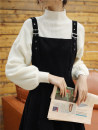 Dress Winter 2020 Small short black suspender skirt, black suspender skirt + sweater, small short black sweater red back, black sweater + Red suspender skirt, red sweater + black suspender skirt, small short red sweater black back S. M, l, XL, collection store. Priority delivery longuette commute