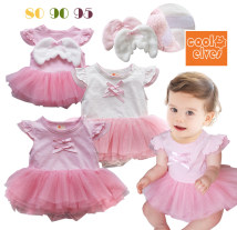 Jumpsuit / climbing suit / Khaki COOLELVES Class A female White pink 80 yards (0-4 months) 90 yards (4-8 months) 95 / 100 yards (8-11 months) Pure cotton (100% content) summer Sleeveless Trigonometry princess Official pictures nothing Cotton 100% Socket