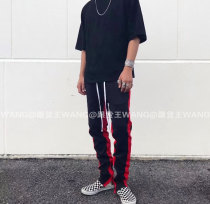 Casual pants Others Youth fashion (black and white) (black and red) S M L XL routine trousers Other leisure Self cultivation No bullet autumn youth 2017 middle-waisted Cotton 100% Sports pants cotton More than 95%