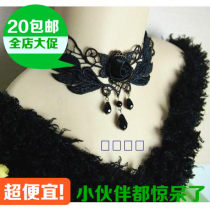 Necklace Lace 10-19.99 yuan manual Most parts of the country brand new Japan and South Korea female goods in stock yes Fresh out of the oven 21cm (inclusive) - 50cm (inclusive) no Below 10 cm Gold Plated inlaid artificial gem / semi gem rhinestone Plants and flowers other
