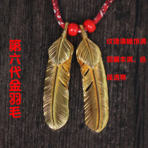 Pendant / Pendant other Over 3000 yuan Other / other Left feather 18K gold all gold right feather 18K gold all gold brand new goods in stock Gold / K gold inlaid gems other