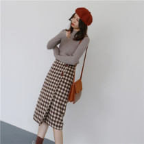 skirt Winter 2017 S M L Coffee lattice black and white lattice coffee lattice reservation black and white lattice reservation Middle-skirt commute High waist A-line skirt lattice Type A 25-29 years old M27 81% (inclusive) - 90% (inclusive) other other Korean version