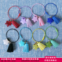 Key buckle DIY A set of 8 colors yellow red green blue black violet Pink Lake Blue stainless steel other Macarone