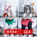 trousers Baby City female S code suggests 0-2 years old, M code suggests 3-4 years old, l code suggests 5-6 years old spring and autumn trousers cotton