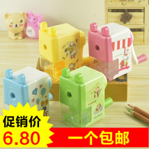 Pencil sharpener / sharpener Candy pie Square green square blue square yellow square pink round green round blue round yellow round pink NO.711