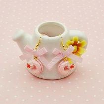 Earrings Ribbon RMB 1.00-9.99 【NANA】 brand new Sweet EH150422A