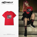 T-shirt Youth fashion Black red routine S M L XL 2XL 3XL HEYBIG Short sleeve Crew neck standard dance summer THDX2878CJ Cotton 100% teenagers routine Hip hop other 2018 printing cotton other washing Designer brand More than 95%