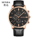 Wristwatch Mineral reinforced glass mirror Stainless steel Stainless steel 43mm Shop warranty Shengda male Quartz movement domestic 5ATM 10mm Vintage