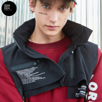 Vest / vest Youth fashion Taka original BLACK M L Other leisure standard Vest routine autumn Hood (not detachable) youth 2017 tide five hundred and fifty-nine billion eighty million nine hundred and ninety-two thousand two hundred and seventy zipper Straight hem No iron treatment Zipper decoration