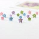 Ear Studs other RMB 1.00-9.99 Other / other Pink small plum blossom pink gardenia blue small plum blossom blue Gardenia green small plum blossom green Gardenia purple small plum blossom purple Gardenia brand new Japan and South Korea female goods in stock Fresh out of the oven Not inlaid