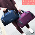 Travel bag No Xinfei Leopard Oxford Textile small big Rose red black green red sky blue dark blue purple travel Bag type Soft handle fashion Single Yes Pure color Zipper pocket mobile phone bag ID bag sandwich zipper bag Nylon Splice six thousand and five
