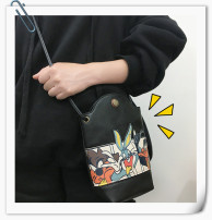 Bag Inclined shoulder bag PU other Other / other Bunny Spaniel bag Dark Green Bunny Spaniel Bag Black Bunny Spaniel Bag Brown Bunny Spaniel bag grey brand new Cartoon leisure time Cartoon animation Straddle shoulder youth printing printing