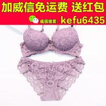 Bra Set  70B 75A 75B 75C 80A 80B 80C 85B 85C Purple dark green skin color black Other / other There are steel rings Briefs Fixed shoulder strap low-waisted Top thin bottom thick mould cup 3/4 Sweet S M L Type V Rear double row buckle Gather together No insert Solid color lesbian  spandex nylon nylon