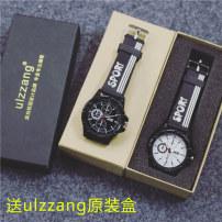 Wristwatch Ulzzang Shop warranty quartz movement  Lovers Watch silica gel domestic 3ATM alloy Ordinary glass mirror 9mm 38mm circular fashion brand new