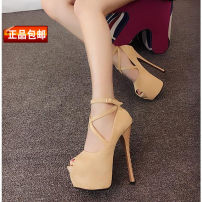 Low top shoes 35 36 37 38 39 Other / other Khaki black Fish mouth Fine heel PU Shallow mouth Super high heel (over 8cm) PU Fall 2017 Youth (18-40 years old)