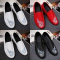 Low top shoes White, black, red Collection of socks 39 40 41 42 43 44 Other / other PU Trochanter Round head Doug shoes cloth The trend of youth daily Solid color Flat heel summer rubber ventilation Adhesive shoes Youth (18-40 years old) Embroidery A7680 Low heel (1-3cm) PU Korean version Shaving