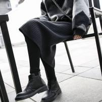 skirt Fall 2017 Average size Red coffee dark grey black dark green longuette Versatile High waist skirt Solid color Type H km201801042033 knitting