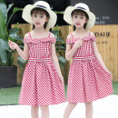 Dress Red blue pink Other / other female 110cm 120cm 130cm 140cm 150cm 160cm Cotton 85% polyester 15% summer Korean version Skirt / vest Solid color cotton A-line skirt sixty-six thousand eight hundred and ninety-two Class B