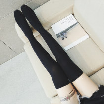 Boots 35 36 37 38 39 black Elastic cloth Other / other Low heel (1-3cm) Thick heel Elastic cloth long and tube-shaped Square head No interior No interior Fall 2017 Sleeve Korean version rubber Solid color Elastic boots Adhesive shoes PU Youth (18-40 years old) spring and autumn rhinestone QM2063(48h)