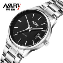 Wristwatch Plexiglass mirror other Stainless steel 39mm Shop warranty NARY/Nairy male Quartz movement domestic 5ATM 9.1mm Casual Circular Pointer brand new six thousand one hundred and fifteen Single folding buckle ordinary Dial two thousand and fifteen ordinary Calendar noctilucan