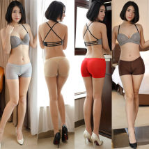 Leggings Summer of 2018 Skin color white red gray black brown pink rose red Do not open the crotch zipper Thin money shorts eight thousand and one 18-24 years old Other / other nylon 81% (inclusive) - 90% (inclusive)