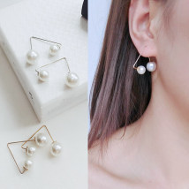 Ear Studs Alloy / silver / gold RMB 1.00-9.99 Easy make up Gold and silver brand new Japan and South Korea female goods in stock Fresh out of the oven Alloy inlaid artificial gem / semi gem