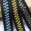 Ribbon / ribbon / cloth ribbon Black + blue 1.5cm (size 100) black + yellow 1.5cm (size 100) black + coffee 1.5cm (size 100) 007 Textile City A611