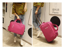 Travel bag oxford Yes Other / other Red dark brown black green red dark blue purple Xiaoda yes travel Strapless Japan and South Korea Bag type polyester fiber Soft handle Solid color youth Embossing 601#f female