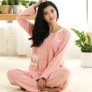Pajamas / housewear set female Han Zhiyun Sales promotion at a loss is about to rise 68 yuan. Top 100, two sets of 10 yuan less. M (free freight insurance) l (no pilling, no fading) XL (no reason to return in 7 days) XXL (J comfortable combed cotton) XXXL (wear within 180 kg) 4XL (extra large) cotton