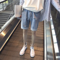Jeans Youth fashion Others S M L XL 2XL wathet routine No bullet Regular denim Shorts (up to knee) Other leisure summer teenagers Medium low back like a breath of fresh air 2018 zipper washing