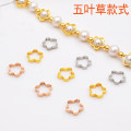 Other DIY accessories Other accessories Alloy / silver / gold 0.01-0.99 yuan Clover white gold clover gold clover rose gold brand new