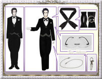 Cosplay men's wear suit Customized COSMONDE Over 14 years old Male s, m, l, XL (consulting customer service) female s, m, l, XL (consulting customer service) customized zone single buy tattoo stick Brooch comic Average size