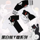 Cartoon T-shirt / Shoes / clothing On how to break the bullet T-shirt Over 14 years old goods in stock S,M,L,XL,XXL,XXXL summer Japan currency Others cotton Black and white bear