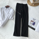 trousers Other / other neutral Black, black, regular No season trousers fashion There are models in the real shooting Casual pants Leather belt middle-waisted cotton Don't open the crotch other 14 years old Chinese Mainland