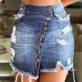 skirt Summer of 2019 S,M,L,XL,2XL Light blue, dark blue, black Short skirt Versatile High waist skirt other Type O 18-24 years old 8812# 51% (inclusive) - 70% (inclusive) Denim Other / other cotton