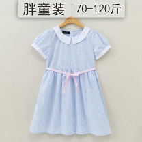 Dress female Other / other Cotton 100% summer princess Short sleeve Broken flowers Pure cotton (100% cotton content) A-line skirt