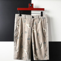 Casual pants Others Fashion City khaki 29,30,31,32,33,34 routine Pant Other leisure Straight cylinder No bullet summer youth Business Casual 2020 Medium low back Straight cylinder Cotton 45% others 55% Domestic non famous brands