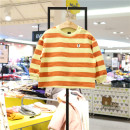 T-shirt Yellow Li (7-15 days delivery) moimoln 90 suggests 75 ± cm height, 100 suggests 85 ± cm height, 110 suggests 95 ± cm height, 120 suggests 105 ± cm height male spring and autumn Long sleeves other stripe M211TSB08P 12 months, 9 months, 18 months, 2 years, 3 years, 4 years