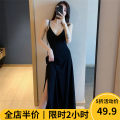 Women's large Summer 2021 Dress singleton  commute easy moderate Socket Sleeveless Solid color Korean version other 3-30CS0283 Beauty mark 18-24 years old Medium length Polyester 100% Pure e-commerce (online only)