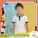 T-shirt white Les enfants 80cm / 1-year-old 90cm / 2-year-old 100cm / 3-year-old 110cm / 4-year-old 120cm / 6-year-old 130cm / 8-year-old male summer Short sleeve Lapel and pointed collar college nothing cotton other Cotton 93.8% polyurethane elastic fiber (spandex) 6.2% A2E2010212 Spring 2021
