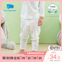 Warm pants Les enfants Print on white background 50cm 60cm 70cm 80cm 90cm 100cm 110cm 120cm 130cm Lyocell  Cotton 57.6% Lyocell fiber (Lyocell) 42.4% summer neutral Cotton trousers / autumn trousers A2E2100022 Spring 2021 fresh