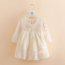 Dress Beige 5621 female Other / other 90cm,100cm,110cm,120cm,130cm Other 100% summer princess Long sleeves other other other Class B 2 years old, 3 years old, 4 years old, 5 years old, 6 years old, 7 years old Chinese Mainland Zhejiang Province Wenzhou City