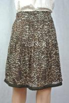 skirt Summer 2013 36, 38, 40, 44, 42 Brown Leopard, Brown Leopard blemish, Blue Leopard Versatile 25-29 years old More than 95% Chiffon polyester fiber