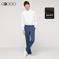 Western-style trousers G2000 Business gentleman Dark blue / 78 28 / 160 29 / 165 30 / 165 31 / 170 32 / 170 33 / 175 34 / 175 36 / 180 38 / 185 other pants length (contact customer service) trousers Polyester 65% viscose 35% Straight cylinder winter go to work youth Business Formal  Winter of 2018