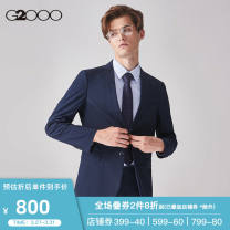 man 's suit Light beige / 12 dark blue / 76 Army Green / 48 G2000 Business gentleman routine 44/160 46/165 48/170 50/175 52/180 Polyester 100% Autumn of 2019 Self cultivation Double breasted go to work Double slit Same model in shopping mall (sold online and offline)
